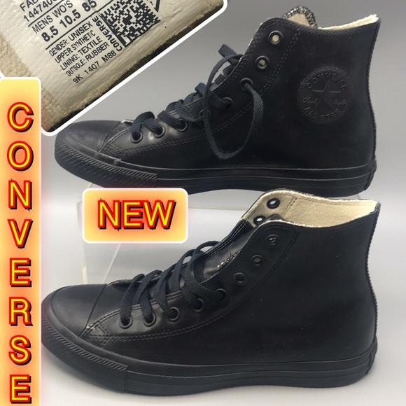 50b6b6cb4c6 Converse unisex Black hi-Top Sneakers New